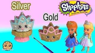 getlinkyoutube.com-DIY Custom Shopkins Season 3 Playset Exclusive Tiara Paint Craft Toy Video Cookieswirlc