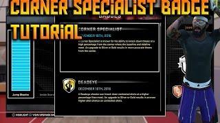 NBA 2K16 How To Get Corner Specialist Badge EASY Tutorial
