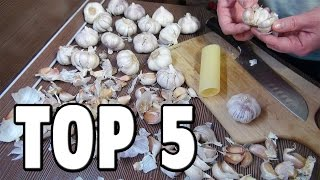 getlinkyoutube.com-Top 5 Food Life Hacks - How To Peel Garlic