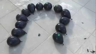 getlinkyoutube.com-Black Water Balloons Meet Green Laser