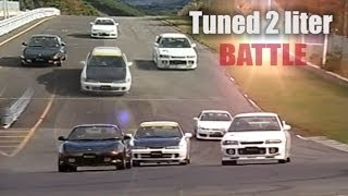 getlinkyoutube.com-[ENG CC] Tuned 2 liter battle - Integra R, Silvia S14, EVO III, MR-2 Ebisu HV42