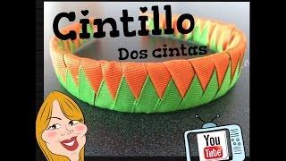 getlinkyoutube.com-Como hacer un Cintillo de 2 cintas - How to make a headband | Creations Nani