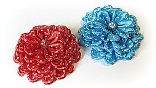 getlinkyoutube.com-Cómo hacer flores de raso. Satin flowers.