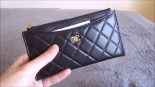 getlinkyoutube.com-Chanel (New Style) Wallet / Card Holder Review