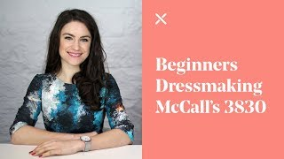 getlinkyoutube.com-Beginners Dressmaking - McCall's Skirt 3830 Pattern