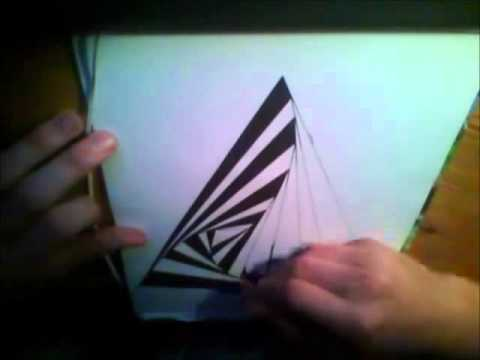 How to Draw: Optical Illusion 01 Twisting Pyramide