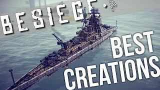 getlinkyoutube.com-Best of Besiege: Battleships, Trains! - Amazing Vehicle Creations