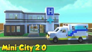 Hospital & Ambulance! - Mini City 2.0 [Ep.4] - Scrap Mechanic Gameplay