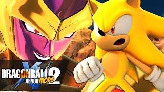 getlinkyoutube.com-BATTLE OF GOLD!! Sonic VS Golden Frieza & Cooler!!   Dragon Ball Xenoverse 2 MODS
