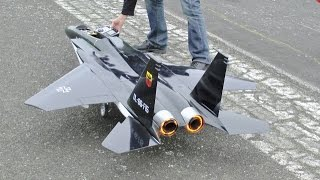 RC FORCED LANDING ON TARMAC RETRACT FAILURE - LARGE SCALE McDONNELL DOUGLAS F-15 EAGLE UK - 2015