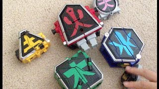 getlinkyoutube.com-Power Rangers Samurai Toys Megazord