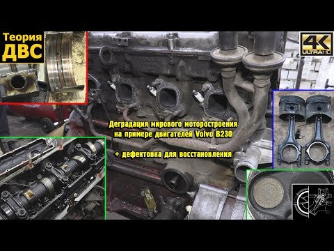 Деградация мирового моторостроения на примере двигателей Volvo B230 (+ дефектовка)