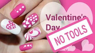 getlinkyoutube.com-DIY Valentine's Day Pink Heart! Without any Tools - Nail Art Tutorial to Paint your Nails at Home!