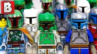 getlinkyoutube.com-Every Lego Boba Fett & Jango Fett Minifigure Ever!!! + Rare Cloud City Boba | Collection Review