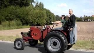 getlinkyoutube.com-DEUTZ MAH716 (1936) Eigenbau-Schlepper: Erster Testlauf   Homemade-Tractor: First Test Run