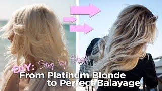 getlinkyoutube.com-DIY - from Blonde to the Perfect Balayage - Easy to Follow At Home Tutorial