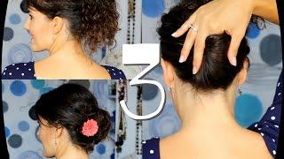 getlinkyoutube.com-Peinados para diario pelo rizado