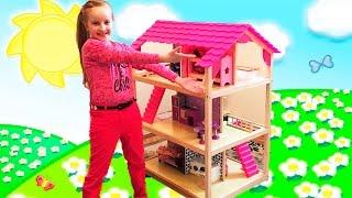 getlinkyoutube.com-Doll House / Мебель для кукол / Деревянный кукольный домик / кукольная мебель / Dollhouse for girls