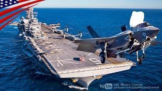 getlinkyoutube.com-新型「アメリカ級強襲揚陸艦」でのF-35B戦闘機の艦上運用試験 - F-35B Fighters Flight Operations Test on USS America (LHA-6)