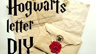 getlinkyoutube.com-DIY Hogwarts letter - Harry Potter tutorial