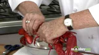 getlinkyoutube.com-How To Boil and Cut Lobster