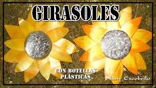 getlinkyoutube.com-GIRASOLES CON BOTELLAS PLÁSTICAS