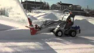 getlinkyoutube.com-Multione GT50 with home made hydraulic Snow blower