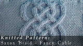 getlinkyoutube.com-Saxon Braid     Fancy Cable     Knitted