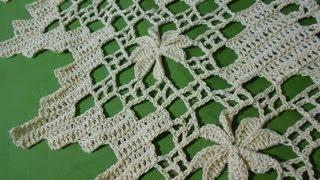 getlinkyoutube.com-Crochet orilla de picos en flor  2 de 4