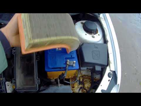 Замена воздушного фильтра Пежо 206 Седан Peugeot 206