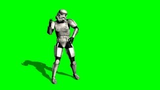 getlinkyoutube.com-Star Wars dancing Storm Trooper on green screen - free green screen