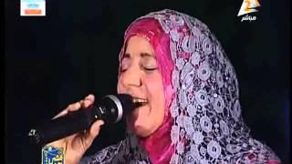 getlinkyoutube.com-المنشدة / وفاء المرسى فى مصر جميلة 19 يونيو 2015