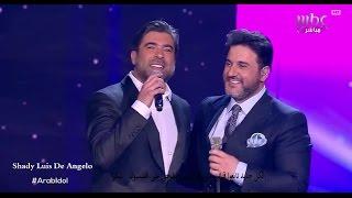 getlinkyoutube.com-وائل كفوري وملحم زين يشعلان مسرح عرب ايدول باغنية عمري كله Arab idol 2016
