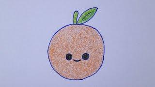 getlinkyoutube.com-Como desenhar uma laranja muito fofa