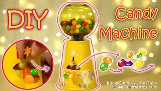 DIY Functional Gumball Machine or Candy Machine - How To Make Working Candy Dispenser Tutorial