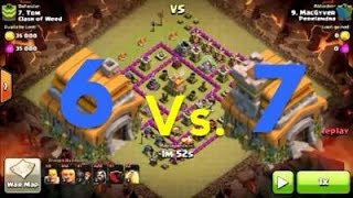 getlinkyoutube.com-TH 6 Vs TH 7 War Attack!