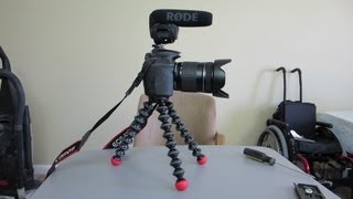 joby gp3-eren gorillapod slr-zoom flexible camera tripod unboxing