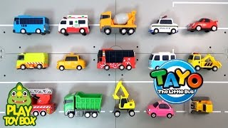 getlinkyoutube.com-Learning Tayo Bus Friends Car Vehicle Names and Sounds for kids with Car Tomica Siku Toys