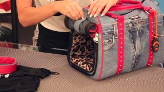 getlinkyoutube.com-Pet Carrier - Handcrafted Dog Carrier by Doggydolly Dog Fashion