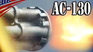 getlinkyoutube.com-Gunship AC-130U Spooky II & AC-130W Stinger II Guns, Howitzer Fire - ガンシップ AC-130 機関砲・榴弾砲 発射