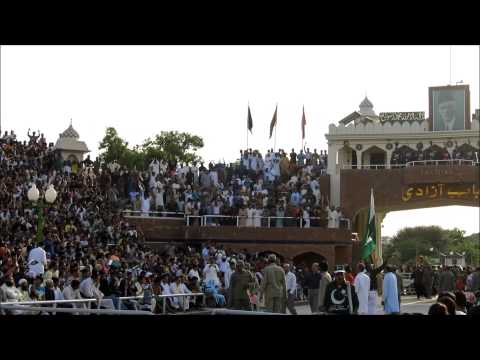 India Pakistan Wagah Border Closing Ceremony 07 (Pakistan Side)