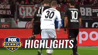 Watch Chicharito's hat trick for Bayer Leverkusen vs. Monchengladbach | Bundesliga Highlights width=