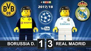 Borussia Dortmund vs Real Madrid 1-3 • Champions League 2018 (26/09/2017) • Goals Highlights Lego