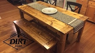 getlinkyoutube.com-DIY Farmhouse Table!