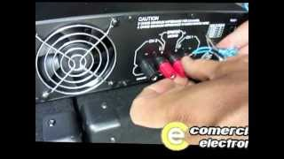 "getlinkyoutube.com-Video de conexión 2 subwoofers 18"" mas amplificador mas cables comercialelectronica"