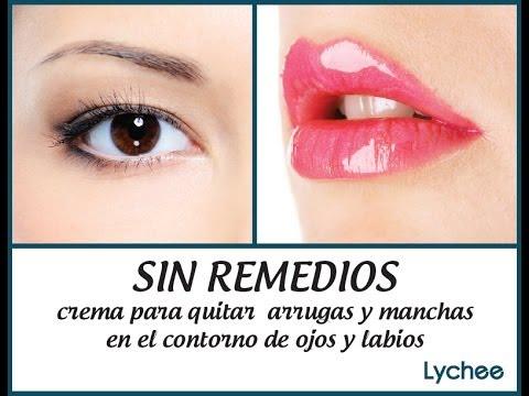 SIN REMEDIOS crema para quitar arrugas y manchas en contorno de ojos y labios