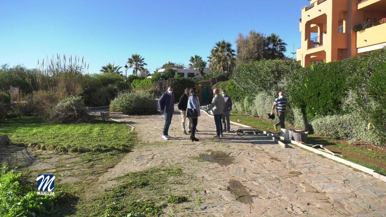 Mejoras en el trazado de paseo en Los Granados