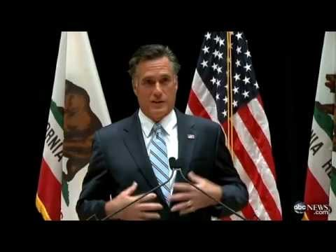 Mitt Romney Responds to Leaked Private Fundraiser Video; Comments on Low Income Obama Supporters