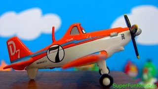 Disney Planes Toys (2013) Chug Skipper Dusty Leadbottom Diecast Toy Review Unboxing