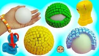 getlinkyoutube.com-3D Mosaic Foam Animal Maker & Playdoh Growing Animals - Dollar Tree Store Crafts
